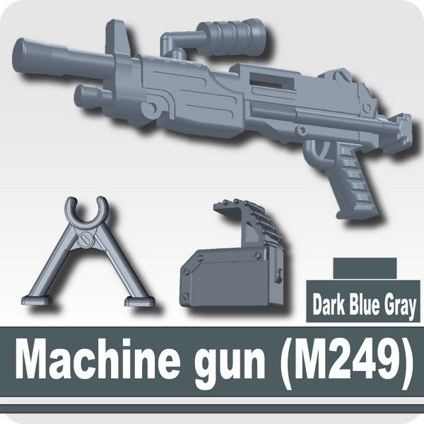 Machine gun (M249) -Dark Blue Gray