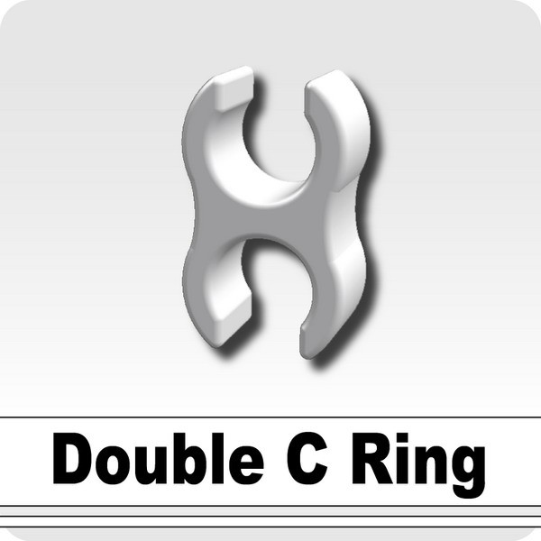 Double C Ring -White