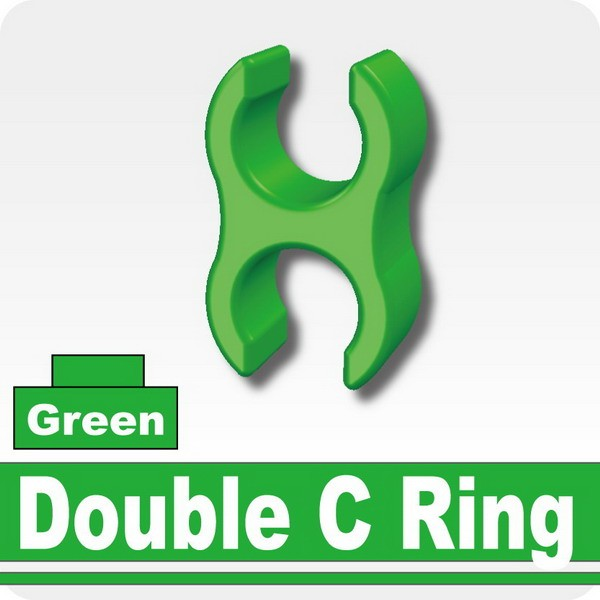 Double C Ring - Green