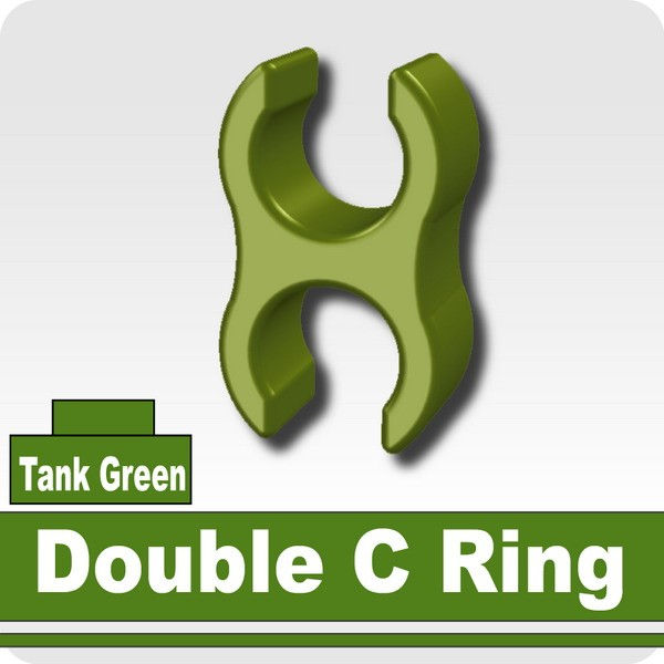 Double C Ring -Tank Green