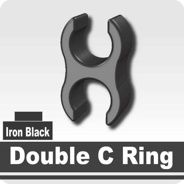 Double C Ring -Iron Black
