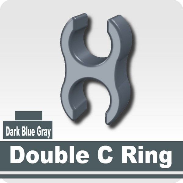 Double C Ring -Dark Blue Gray