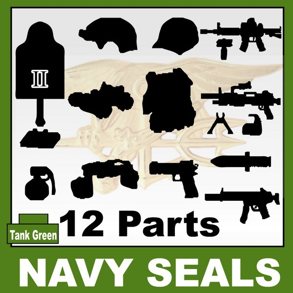 Tank Green_NAVY SEALS(II) 12+Parts+Giftx1
