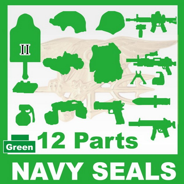 NAVY SEALS(II) 12+Parts+Giftx1 -Green