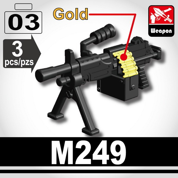 Black_Machine gun (M249)