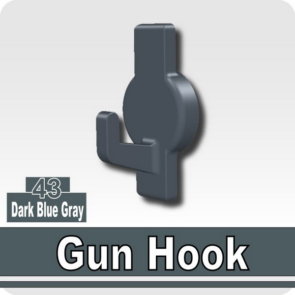Gun Hook-Dark Blue Gray