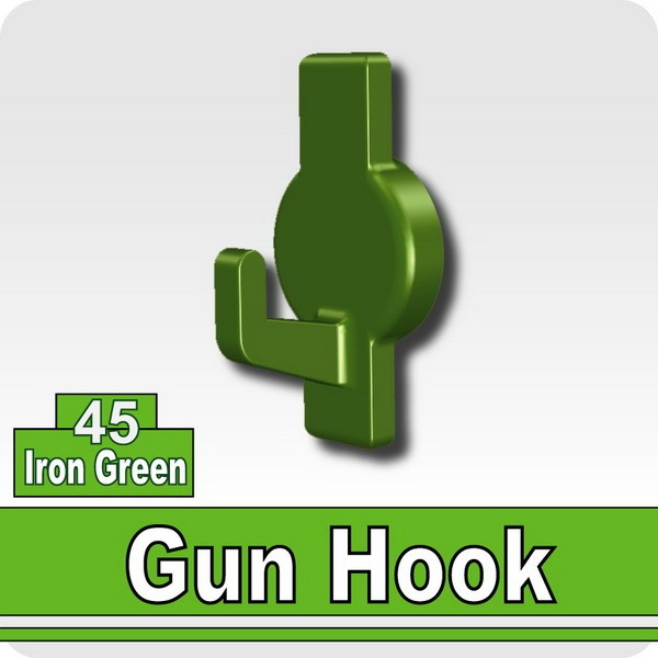 Gun Hook-Iron Green