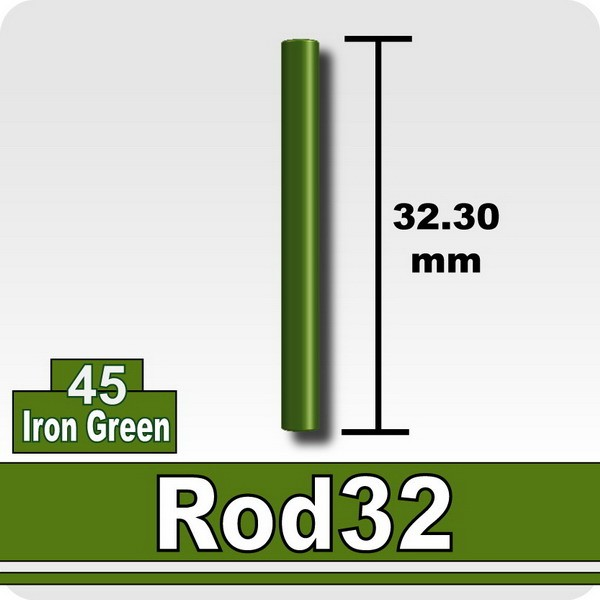 Rod32-Iron Green