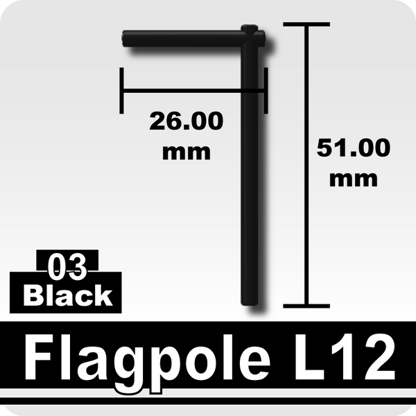 Flagpole L12-Black