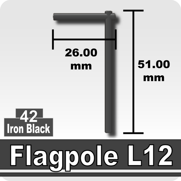 Flagpole L12-Iron Black