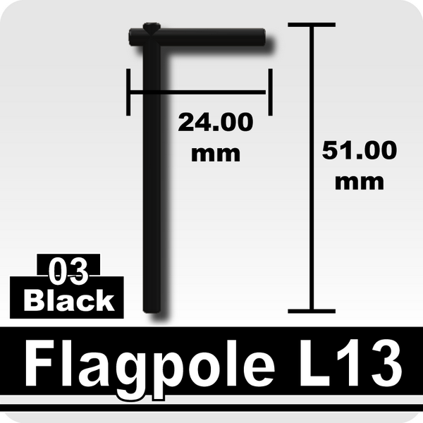 Flagpole L13-Black
