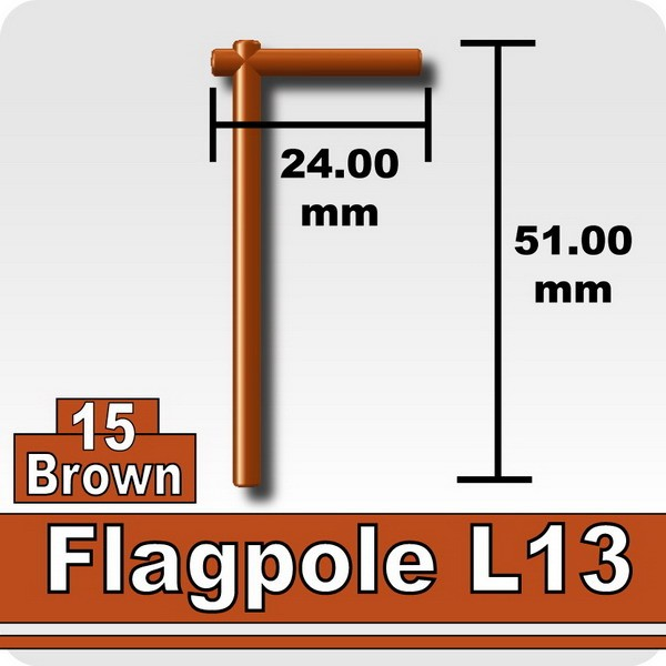Flagpole L13-Brown