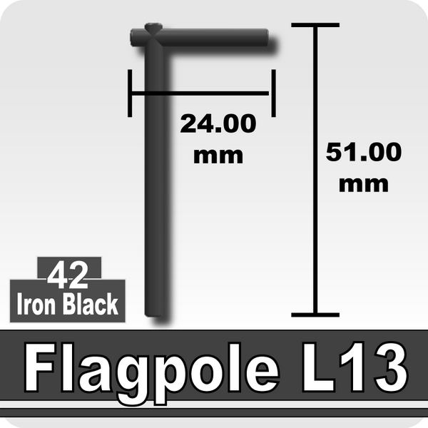 Flagpole L13-Iron Black