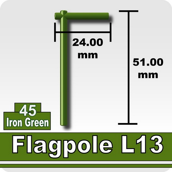 Flagpole L13-Iron Green