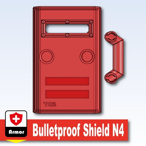 Transparent Red_Bulletproof Shield N4