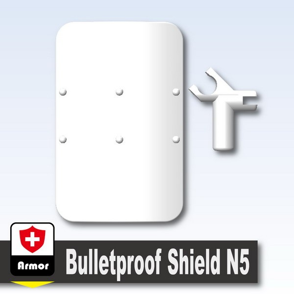 White_Bulletproof Shield N5