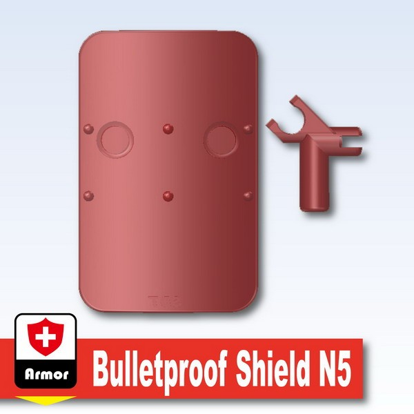 Transparent Red_Bulletproof Shield N5