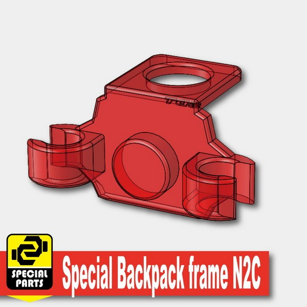 Transparent Red_Special Backpack frame N2C
