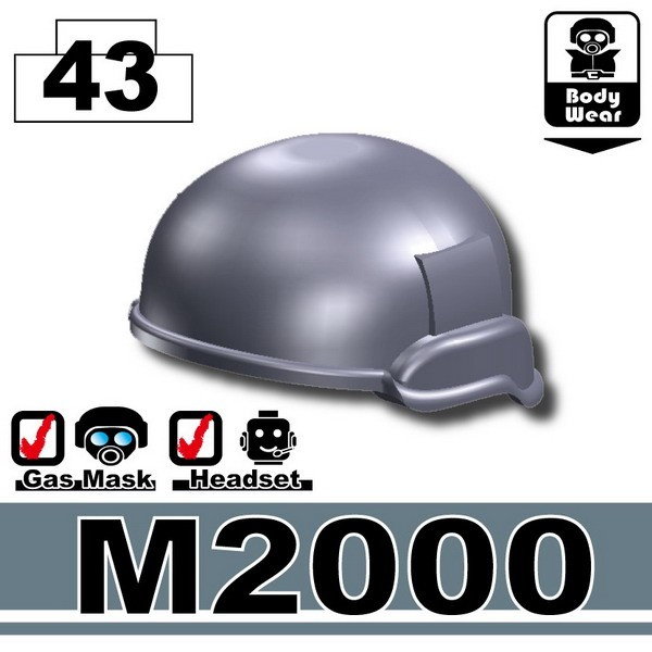 Dark Blue Gray_M2000 Helmet
