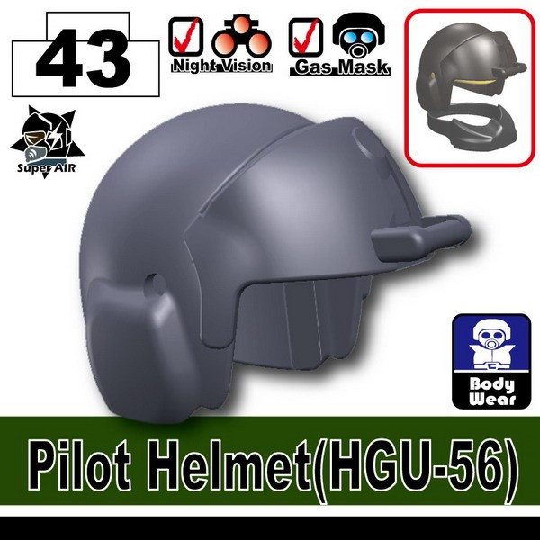 Dark Blue Gray_Pilot Helmet(HGU-56)