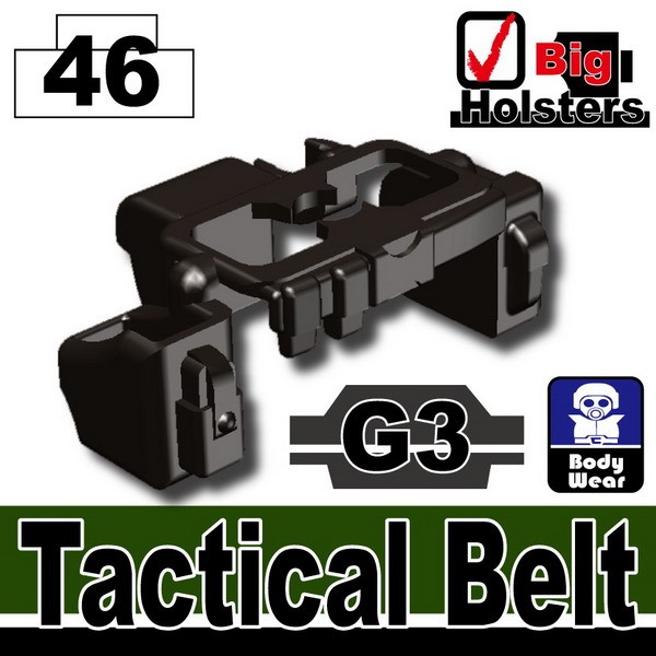 Pearl Dark Black_Tactical Belt(G3)
