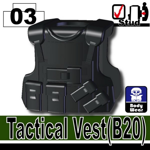 Black_Tactical Vest(B20)