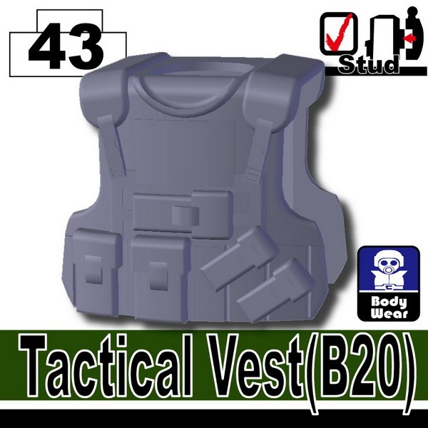Dark Blue Gray_Tactical Vest(B20)