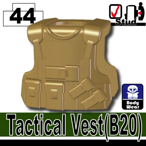Dark Tan-2_Tactical Vest(B20)