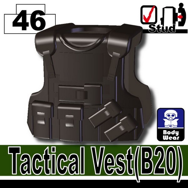 Pearl Dark Black_Tactical Vest(B20)
