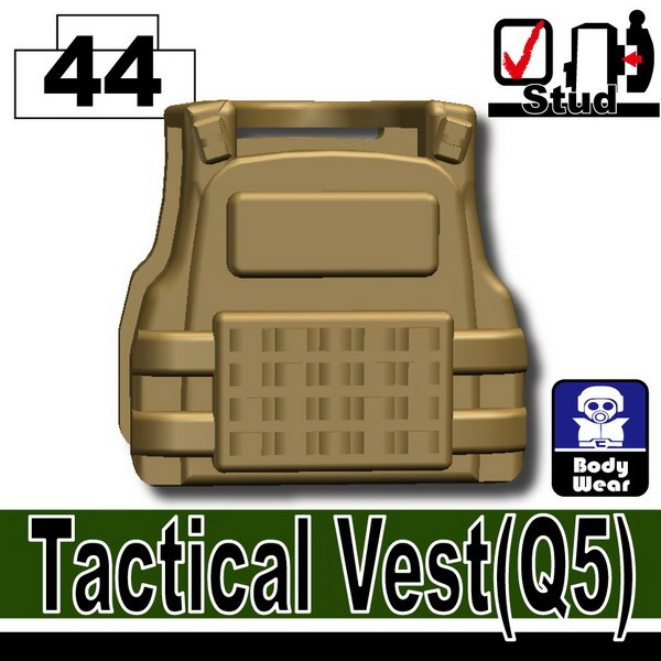 Dark Tan-2_Tactical Vest(Q5)