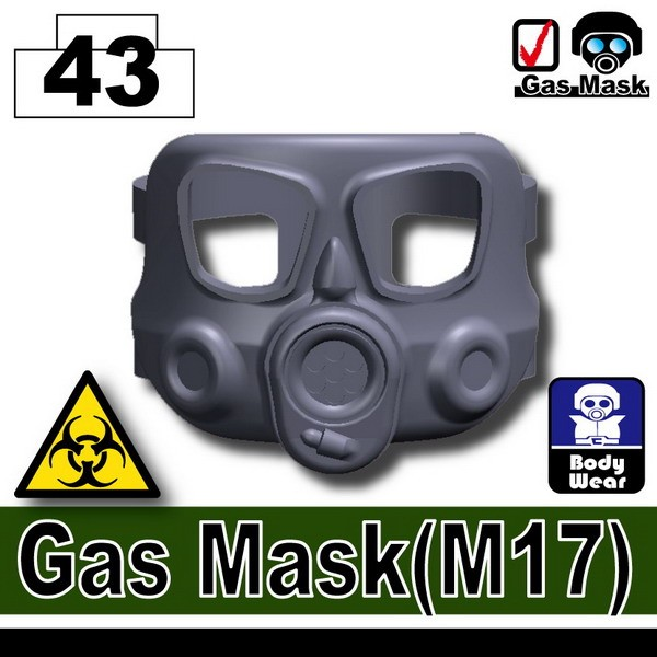 Dark Blue Gray_Gas Mask(M17)