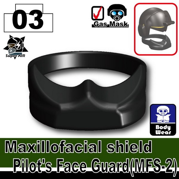 Black_Maxillofacial shield Pilot's Face Guard(MFS-2)