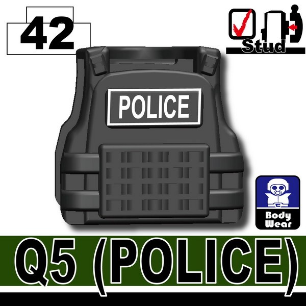 Iron Black_Tactical Vest(Q5-POLICE)