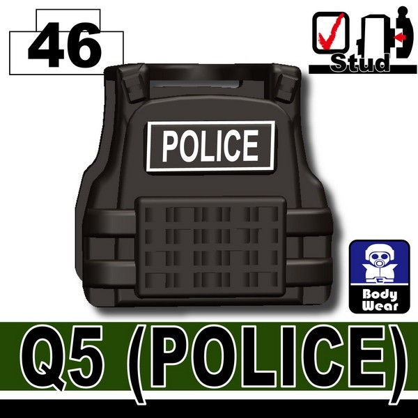 Pearl Dark Black_Tactical Vest(Q5-POLICE)