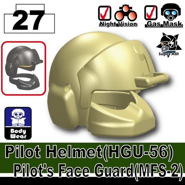 Tan_Pilot Helmet(HGU-56)+(MFS-2)