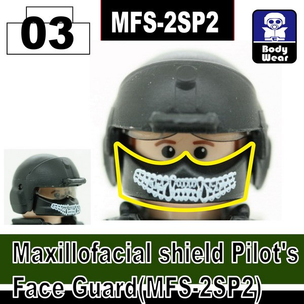 Black_Maxillofacial shield Pilot's Face Guard(MFS-2SP2)