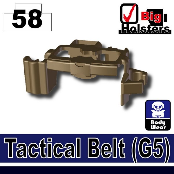 (58)Deep Bronze Brown_Tactical Belt(G5)
