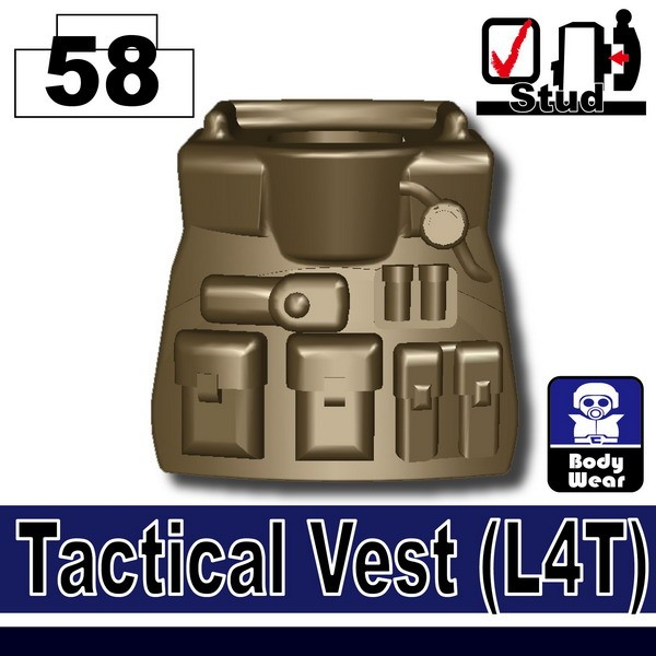 (58)Deep Bronze Brown_Tactical Vest(L4T)