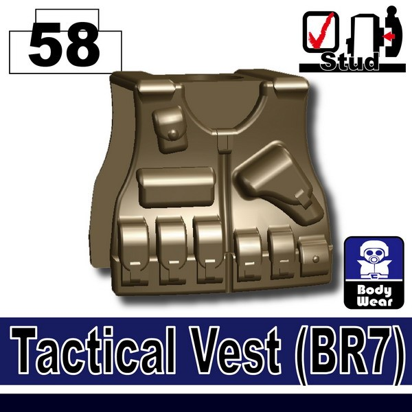 (58)Deep Bronze Brown_Tactical Vest(BR7)