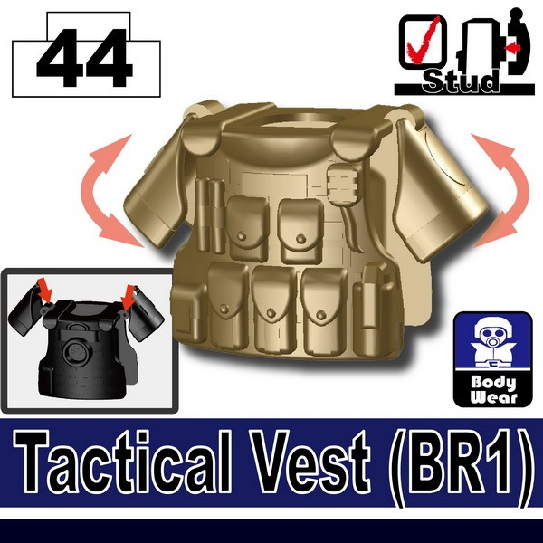 Dark Tan-2_Tactical Vest(BR1)