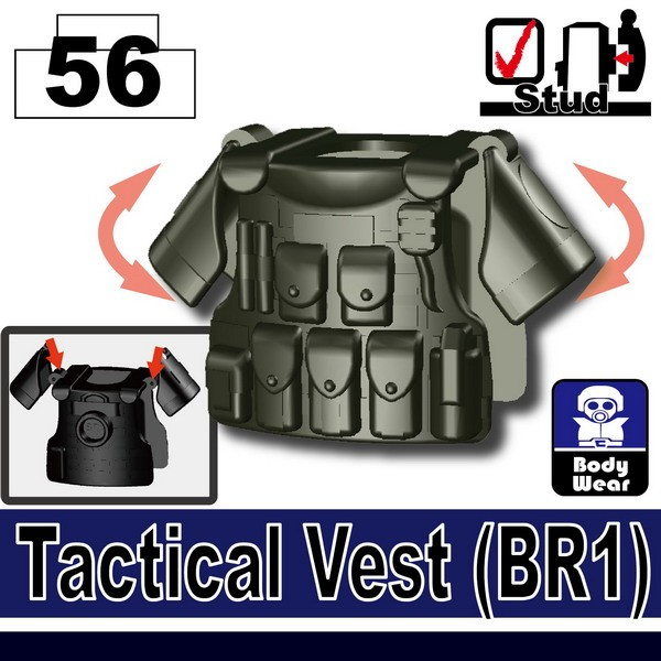 Deep Gray Green_Tactical Vest(BR1)