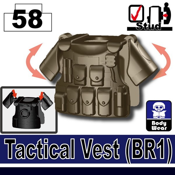 Deep Bronze Brown_Tactical Vest(BR1)