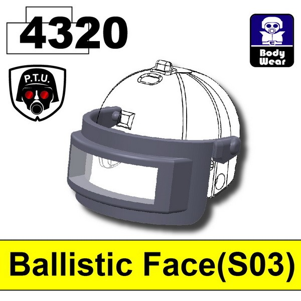 Dark Gray4320_Ballistic Face(S03)