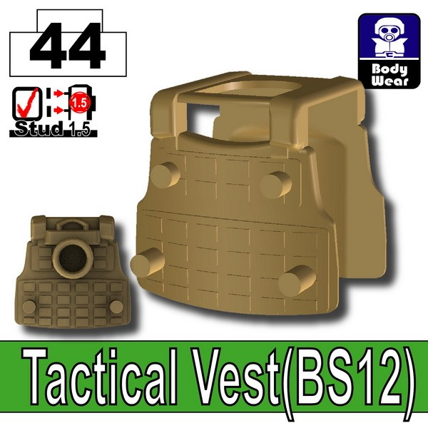 Dark Tan-2_Tactical Vest(BS12)