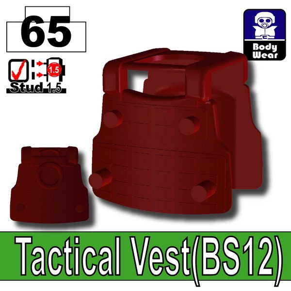 Deep Dark Red_Tactical Vest(BS12)