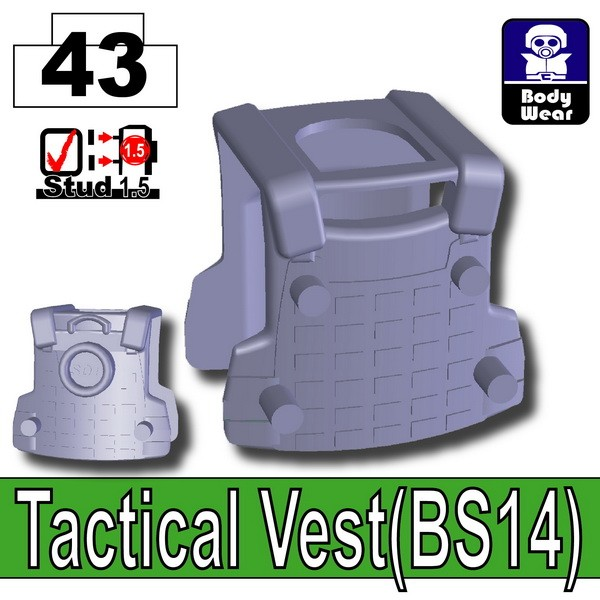 Dark Blue Gray_Tactical Vest(BS14)