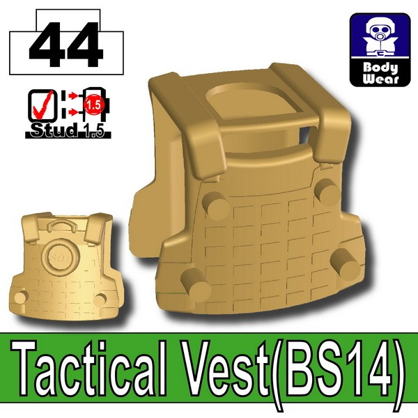 Dark Tan-2_Tactical Vest(BS14)