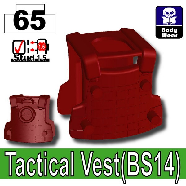 Deep Dark Red_Tactical Vest(BS14)