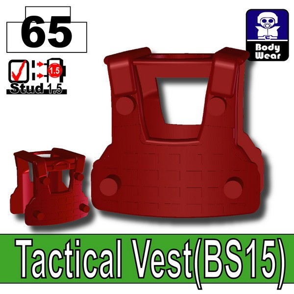 Deep Dark Red_Tactical Vest(BS15)