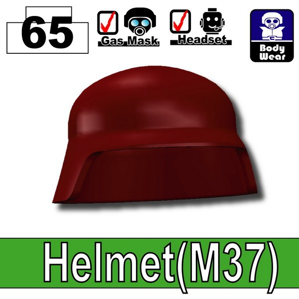 Deep Dark Red_Helmet(M37)